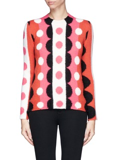 VALENTINO Optic floral wool sweater