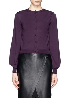 ALEXANDER MCQUEEN Bishop sleeve virgin wool cardigan