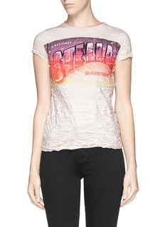 STELLA MCCARTNEY Greeting print T-shirt
