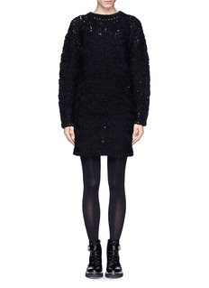 STELLA MCCARTNEY Carded yarn floral knit wool alpaca sweater dress