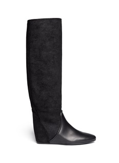 LANVIN Lizard embossed leather boots