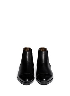 LANVIN Metal tab leather Chelsea boots