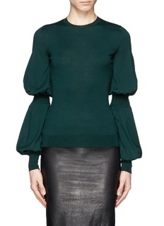 ALEXANDER MCQUEEN Puff sleeve wool sweater