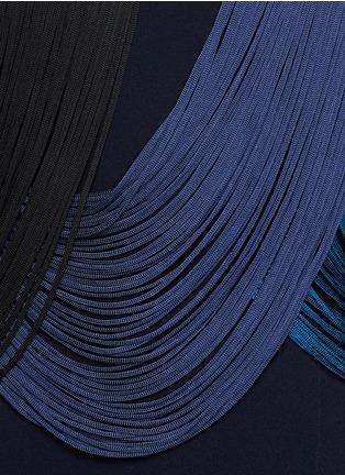 Detail View - Click To Enlarge - Stella McCartney - Rib wave fringe dress