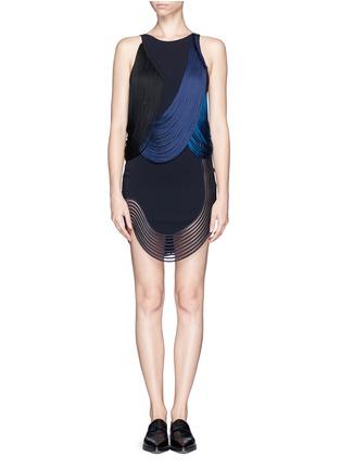 Main View - Click To Enlarge - Stella McCartney - Rib wave fringe dress