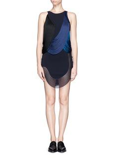 STELLA MCCARTNEYRib wave fringe dress
