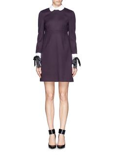 ALEXANDER MCQUEENPoplin collar tailored wool dress
