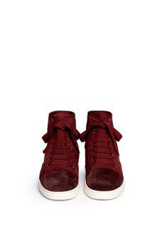 LANVINShearling high top sneakers
