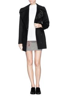 STELLA MCCARTNEYRope appliqué wool blend skirt