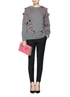STELLA MCCARTNEYRope appliqué fleece sweatshirt
