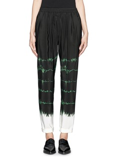 STELLA MCCARTNEY Silk tie-dye jogging pants