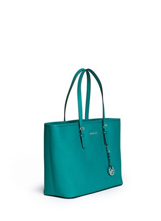 Front View - Click To Enlarge - Michael Kors - 'Jet Set Travel' medium saffiano leather tote