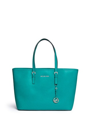 Main View - Click To Enlarge - Michael Kors - 'Jet Set Travel' medium saffiano leather tote