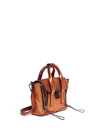 Front View - Click To Enlarge - 3.1 Phillip Lim - 'Pashli' mini metallic leather satchel