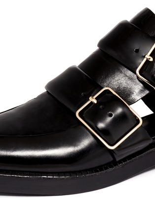 Detail View - Click To Enlarge - Alexander Wang  - Jacquetta cutout monk-strap leather shoes