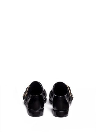Back View - Click To Enlarge - Alexander Wang  - Jacquetta cutout monk-strap leather shoes