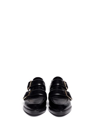 Figure View - Click To Enlarge - Alexander Wang  - Jacquetta cutout monk-strap leather shoes