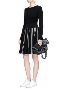 Comme MoiStripe textured knit skirt