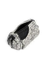 Bouclé lace barrel bag