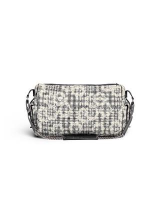 Vintage Chanel-Bouclé lace barrel bag