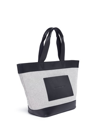 Detail View - Click To Enlarge - Alexander Wang  - Leather trim canvas tote