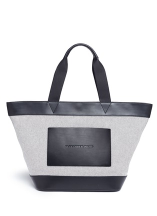 Main View - Click To Enlarge - Alexander Wang  - Leather trim canvas tote
