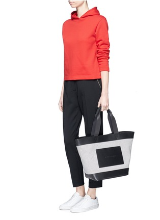 Figure View - Click To Enlarge - Alexander Wang  - Leather trim canvas tote