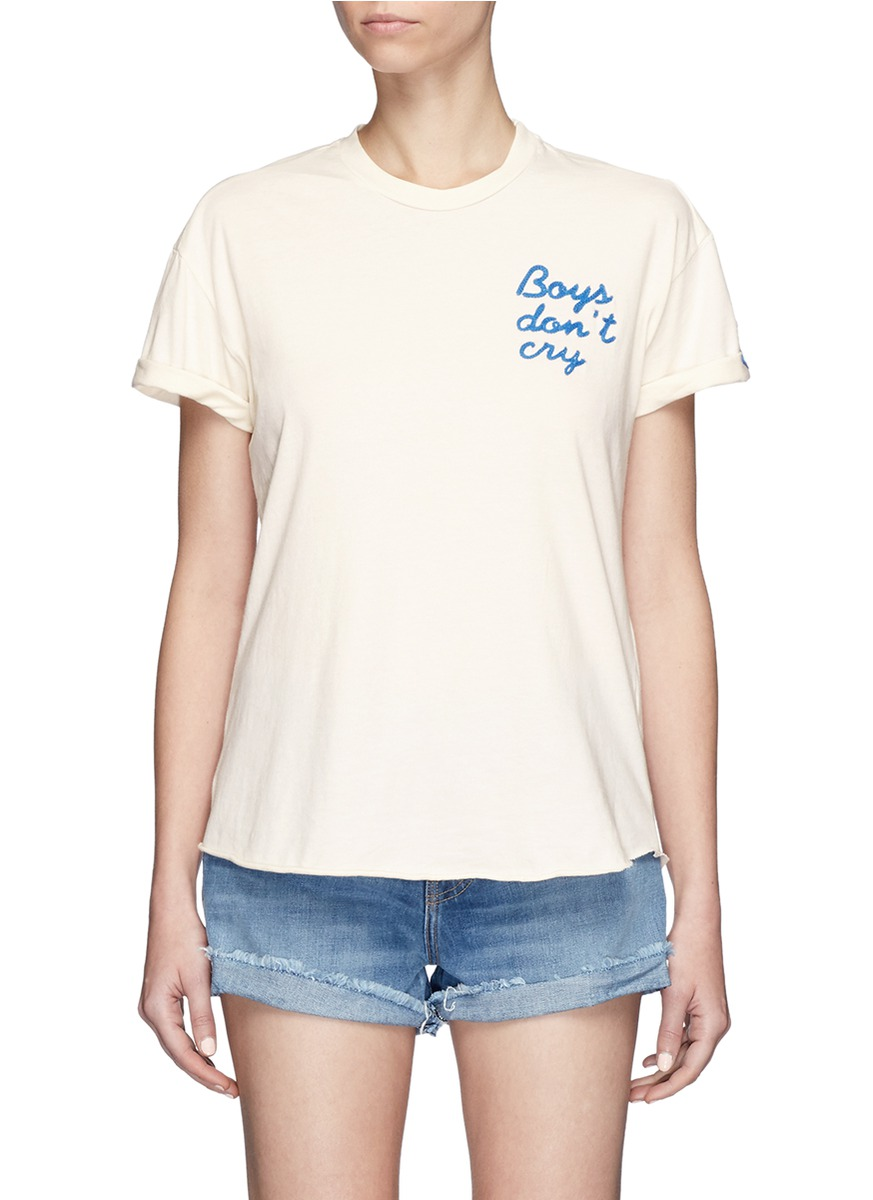 Boys dont cry embroidered T-shirt by Sandrine Rose