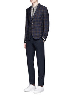 Paul Smith 'Soho' check plaid wool-silk soft blazer