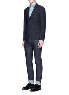 Paul Smith 'Soho' check texture hopsack soft blazer