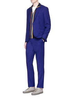 Paul Smith Contrast trim Merino wool zip cardigan