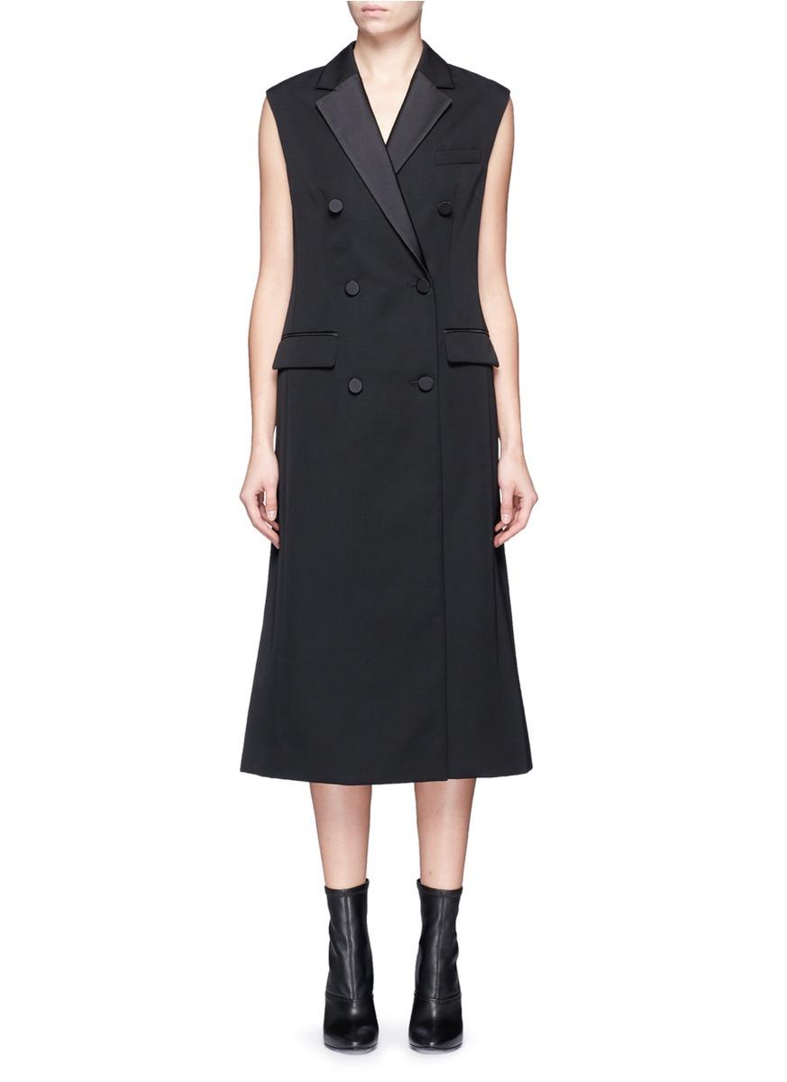 Duchesse satin vest dress by 3.1 Phillip Lim
