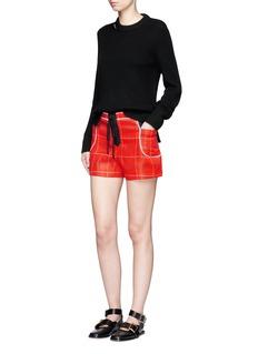 3.1 Phillip LimSurf plaid lace-up shorts