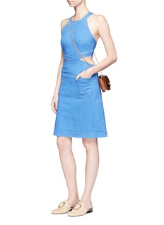 Stella McCartney Cutout waist denim dress