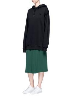 Acne Studios'Yala' emoticon patch fleece lined hoodie