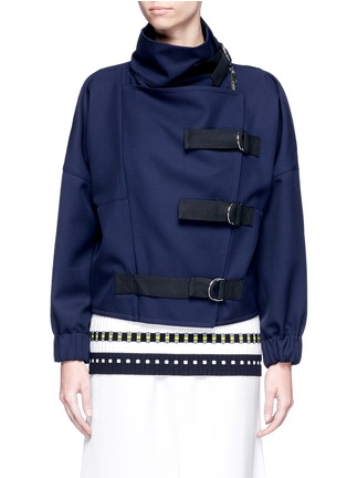 Main View - Click To Enlarge - Victoria Beckham - Belted wool twill jacket