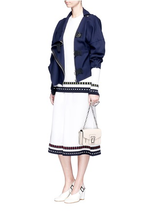 Figure View - Click To Enlarge - Victoria Beckham - Belted wool twill jacket