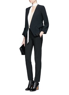 Chloé Pleated hem peplum back crepe sable blazer