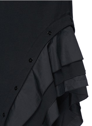 Detail View - Click To Enlarge - Proenza Schouler - Ruffle trim jersey T-shirt dress