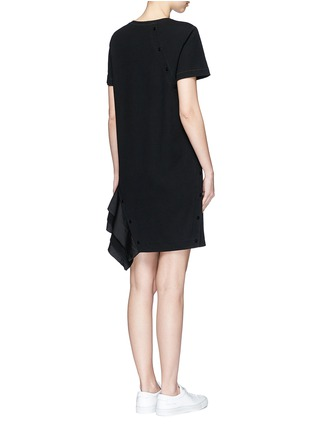 Back View - Click To Enlarge - Proenza Schouler - Ruffle trim jersey T-shirt dress