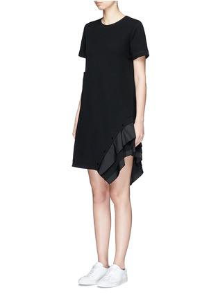 Front View - Click To Enlarge - Proenza Schouler - Ruffle trim jersey T-shirt dress