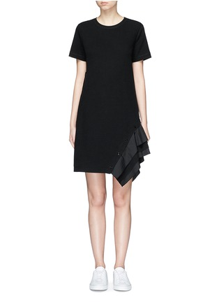 Main View - Click To Enlarge - Proenza Schouler - Ruffle trim jersey T-shirt dress