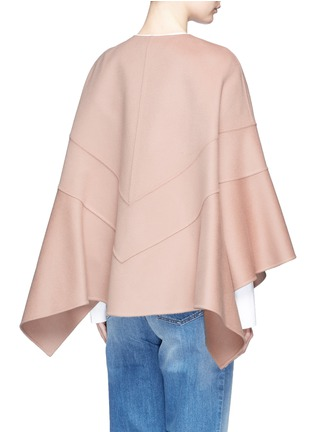 Back View - Click To Enlarge - Valentino - Virgin wool-cashmere cape jacket
