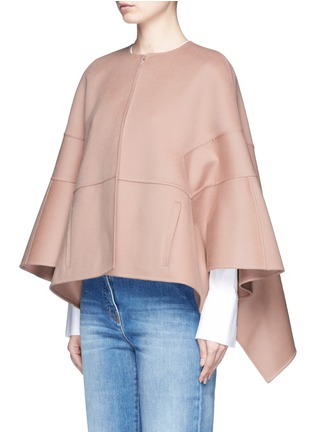 Front View - Click To Enlarge - Valentino - Virgin wool-cashmere cape jacket
