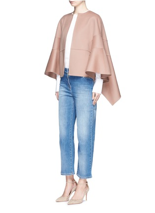 Figure View - Click To Enlarge - Valentino - Virgin wool-cashmere cape jacket