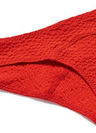 Detail View - Click To Enlarge - Lisa Marie Fernandez - 'Leandra' seersucker off-shoulder bikini set