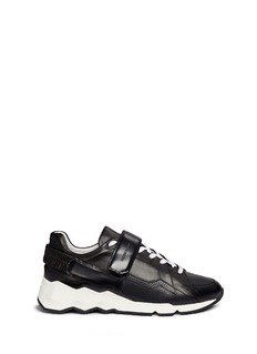 Pierre Hardy 'Comet' geometric sole panelled leather sneakers