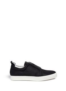Pierre Hardy'Slider' rubberised lattice leather slip-on sneakers
