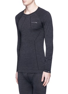Falke Sports'Wool-Tech' crew neck performance long sleeve T-shirt