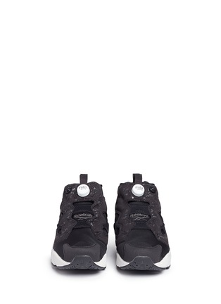 Front View - Click To Enlarge - Reebok - 'Instapump Fury SP' speckle print slip-on sneakers